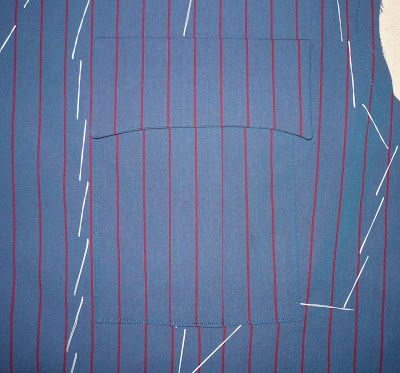 10th Doctor blue suit tutorial - left chest pocket