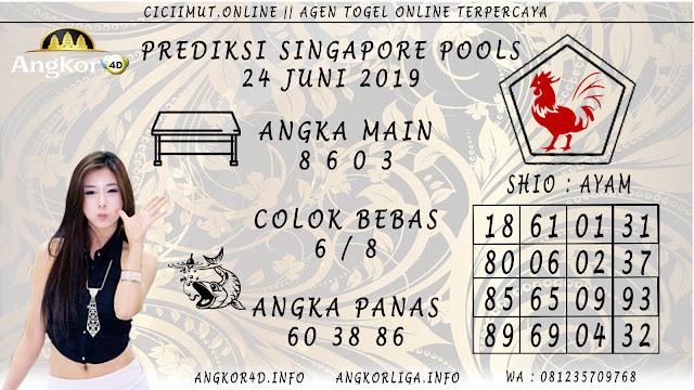 PREDIKSI SINGAPORE POOLS 24 JUNI 2019