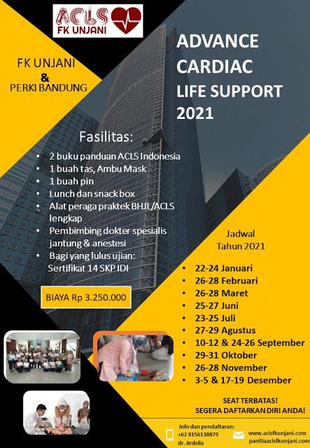 Pelatihan ACLS FK UNJANI & PERKI Bandung Tahun 2021