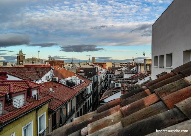 Vista do terraço do Hotel Sidorme Fuencarral 52, em Chueca, Madri