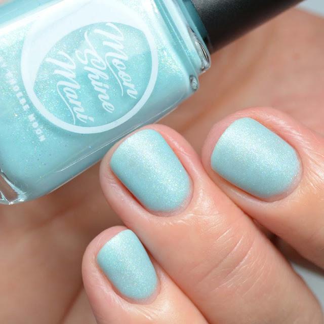 matte blue nail polish swatch