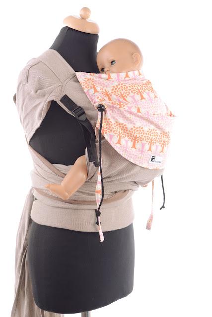 Wrap Tai by Huckepack, stufenlos mitwachsende Babytrage, breit auffächerbare Träger, ergonomisch geformter Hüftgurt, Bauchtrage, Rückentrage, Hüfttrage