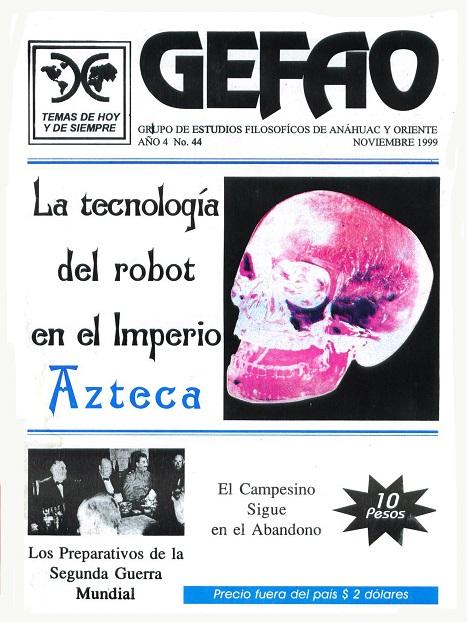 La Tecnología del Robot en el imperio Azteca, Revista GEFAO