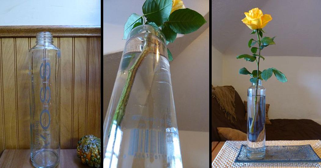 banana bread & homestead: repurposed voss : vase