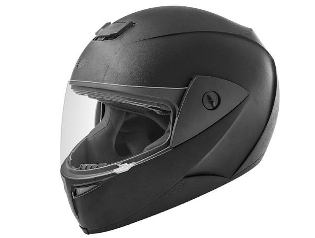 Gliders. Fusion Full Face Helmet (Black with Clear Visor, 580 mm)