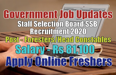 Staff Selection Board SSB Recruitment 2020