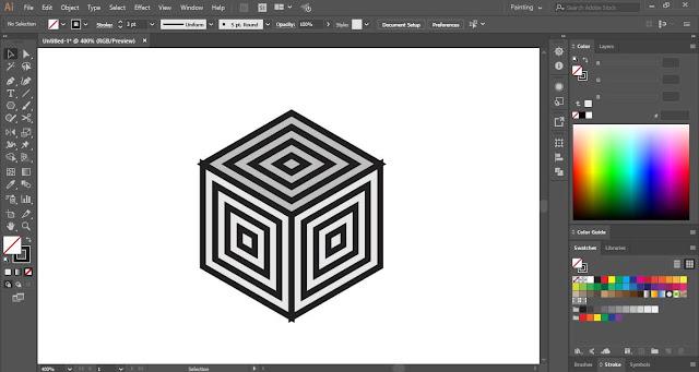 3D Hexagon Pattern