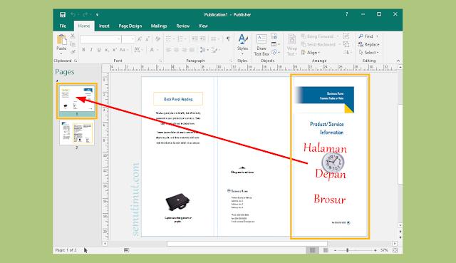 cara membuat brosur bolak balik dengan microsoft publisher