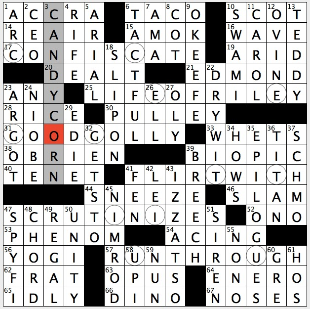 Rex Parker Does The Nyt Crossword Puzzle Winston S Tormenter In 1984 Thu 8 11 16 Capital South Of Lake Volta Longtime Resident Of New York S Dakota Apartments Font Akin To