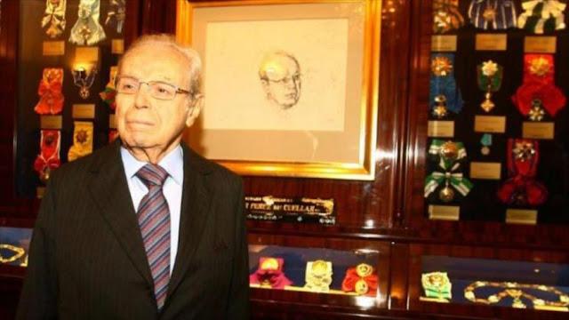 Fallece exsecretario de la ONU, el peruano Javier Pérez de Cuéllar