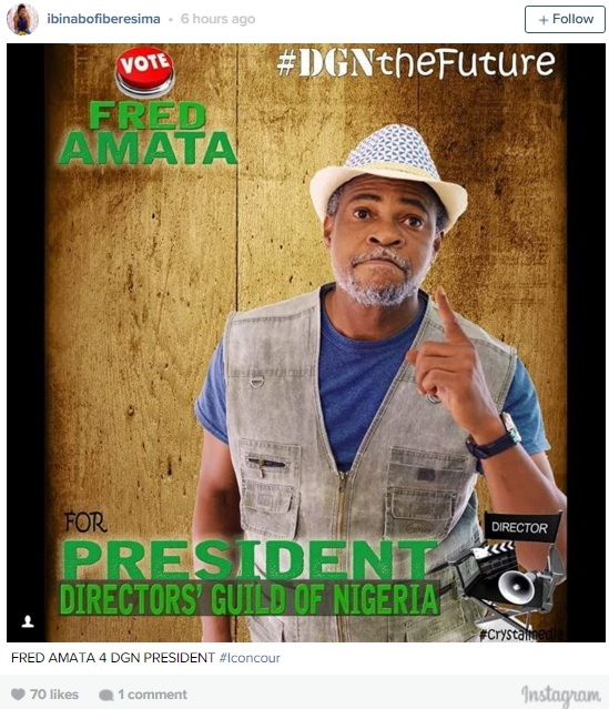 Ibinabo Fiberesma To Fans: Vote My Daughter's Father Fred Amata As The Next DGN President