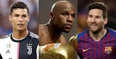 Ronaldo and Messi Clashes Again as Floyd Mayweather Wins Top Spot on Richest Athlete of The Decade