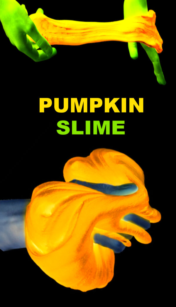 Kids of all ages are sure to love this Halloween slime recipe that glows-in-the-dark! #halloween #halloweenslime #halloweenslimerecipe #pumpkinrecipes #pumpkincrafts #pumpkinactivities #pumpkinsensory #pumpkinslime #pumpkinslimerecipeeasy #pumpkinslimeforkids #slimerecipe #slime #glowingslime #growingajeweledrose #activitiesforkids