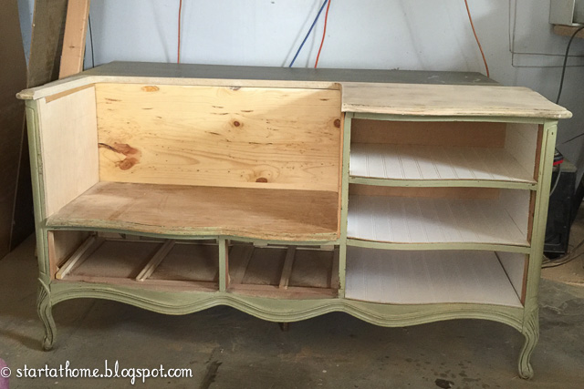 Turn A Dresser Into Bench
