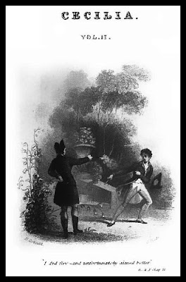 The duel between Mr Monckton and Mortimer Delvile  from Cecilia by Fanny Burney (1825)