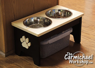 Dog Food and Water Bowl Stand