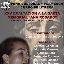 """27/03- 25ª Exaltación de la Saeta """"Memorial Ana Rosado"""""""