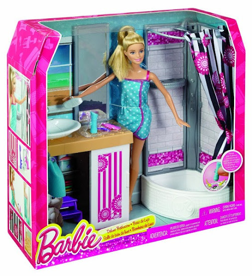 Juguetes barbie ba o de lujo mu eca mattel 2015 for What s new in bathrooms 2015