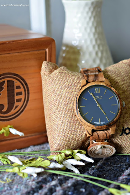 Jord Wood Watch in Navy and Zebrawood, Unique Women's Watch