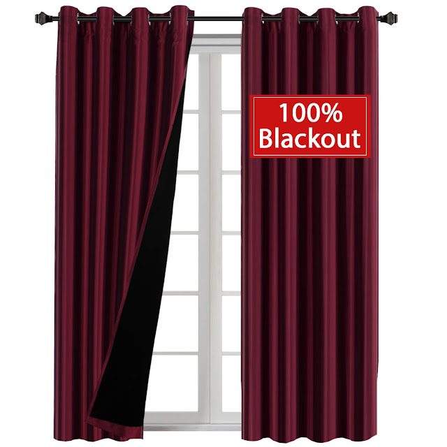 Natural Full Blackout Lined Curtains