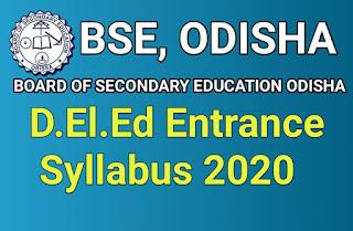 Odisha Scert CT Syllabus 2020, Odisha CT Syllabus 2020 Pdf Download