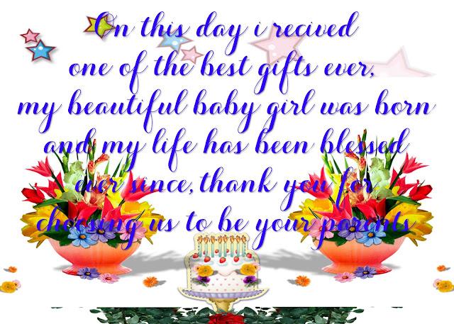 बर्थडे विशेस फॉर बेबी गर्ल इन हिंदी wishes birthday wishes for baby girl