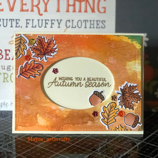 Sunny Studio Stamps: Beautiful Autumn Customer Card by Mayra Martinez