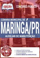 Apostila Câmara de Maringá 2017 para AUXILIAR DE MANUTENÇÃO