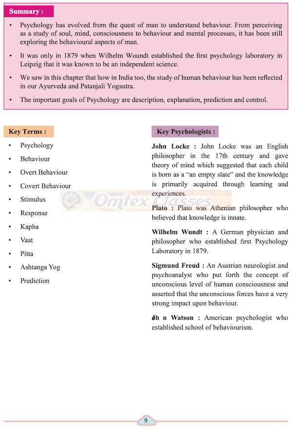 Chapter 1 - Story of Psychology Balbharati solutions for Psychology 11th Standard Maharashtra State Board