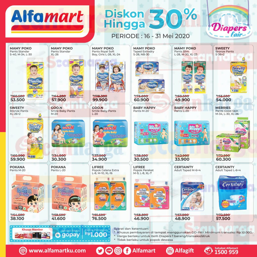 Promo Alfamart Diapers Fair 16 - 31 Mei 2020