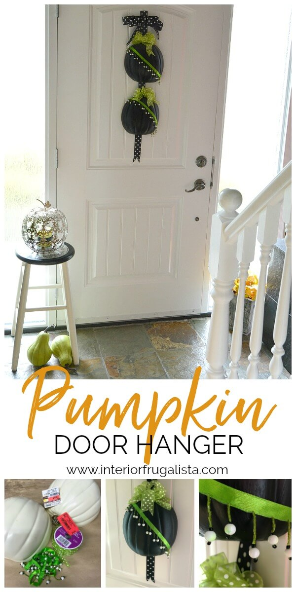 Pumpkin Door Hanger DIY