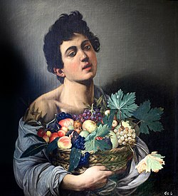 Caravaggio's Boy with a Basket of Fruit, thought to be a young Minniti