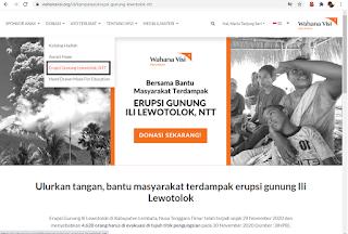 Bantu korban Erupsi Gunung Ili Lewotolok