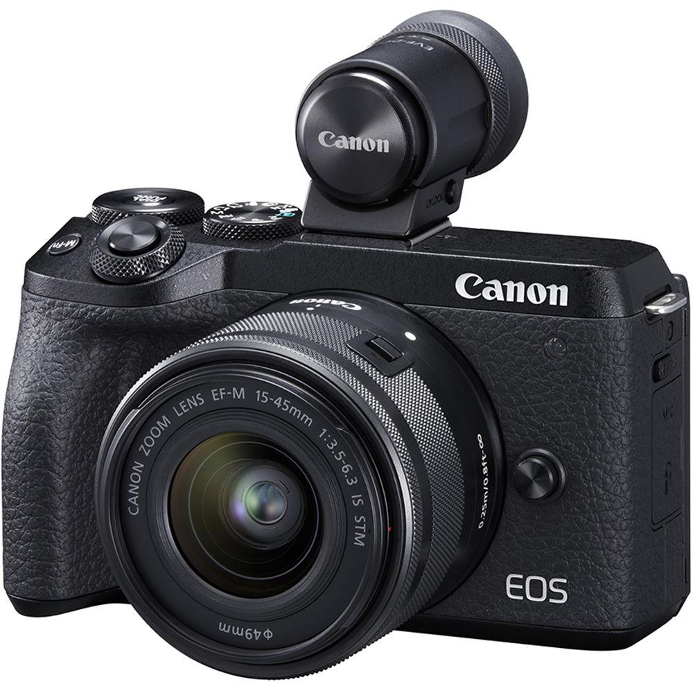 Canon EOS M6 Mark II с дополнительным видоискателем