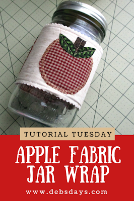 Apple Canning Jar Fabric Wrap Sewing Project