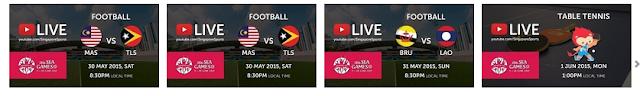 Live streaming Sukan SEA 2015 Di Singapura