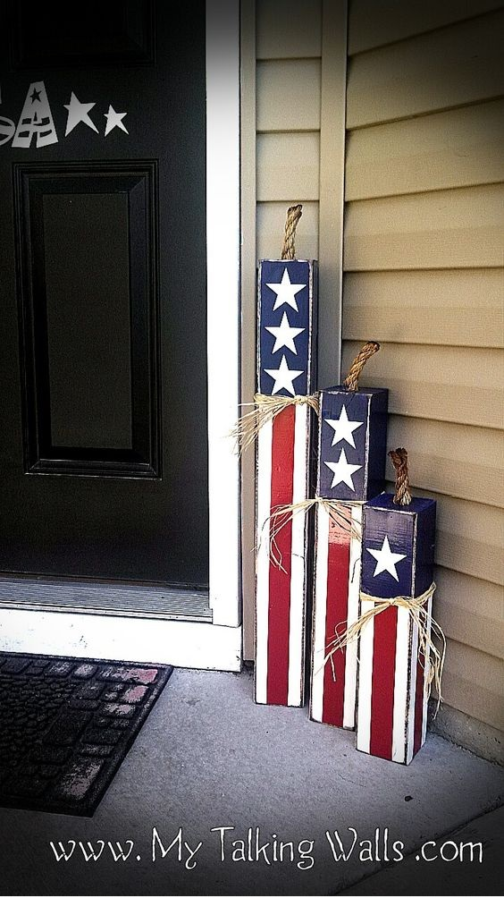 15 Quick And Easy 4th Of July Front Porch Ideas