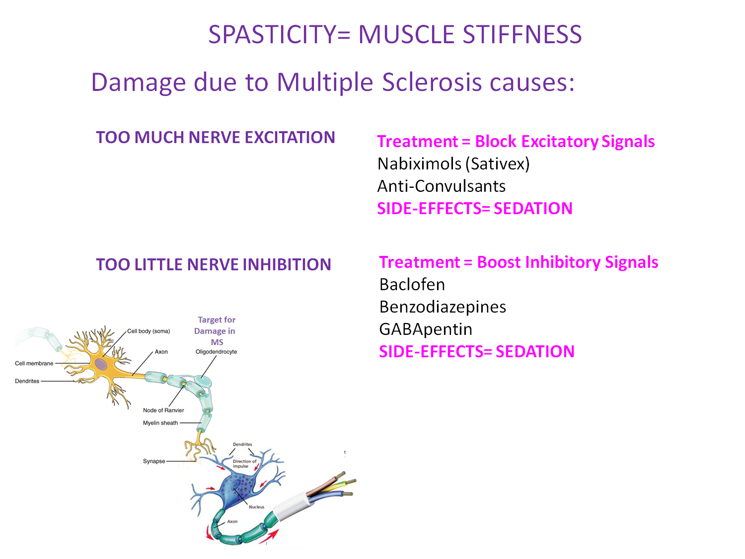multiple sclerosis research: spasticity is common occurance, Skeleton