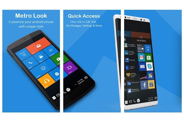 κάνω το android να μοιάζει με windows phone