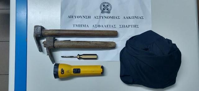 Εξιχνιάστηκαν 3 ληστείες και 9 κλοπές στη Λακωνία