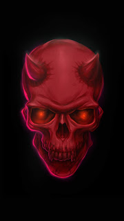 Red Devil Skull Mobile HD Wallpaper