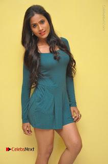 Telugu Actress Prasanthi Stills in Green Short Dress at Swachh Hyderabad Cricket Press Meet  0041.JPG