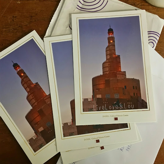 Postcards in Qatar: Where to buy and How to send them - LIVE, LOVE & LOU