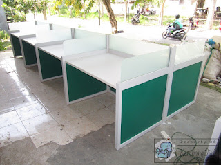 Meja Partisi Kantor Finishing Supercon Untuk 8 Orang
