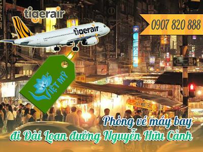 Phòng vé máy bay đi Đài Loan đường Nguyễn Hữu Cảnh