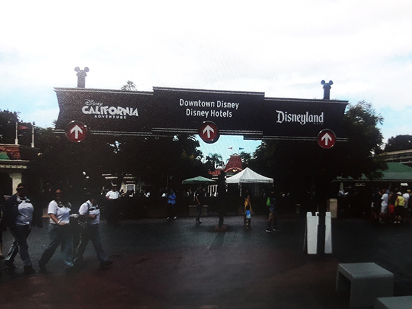 Disney Anaheim California entrance