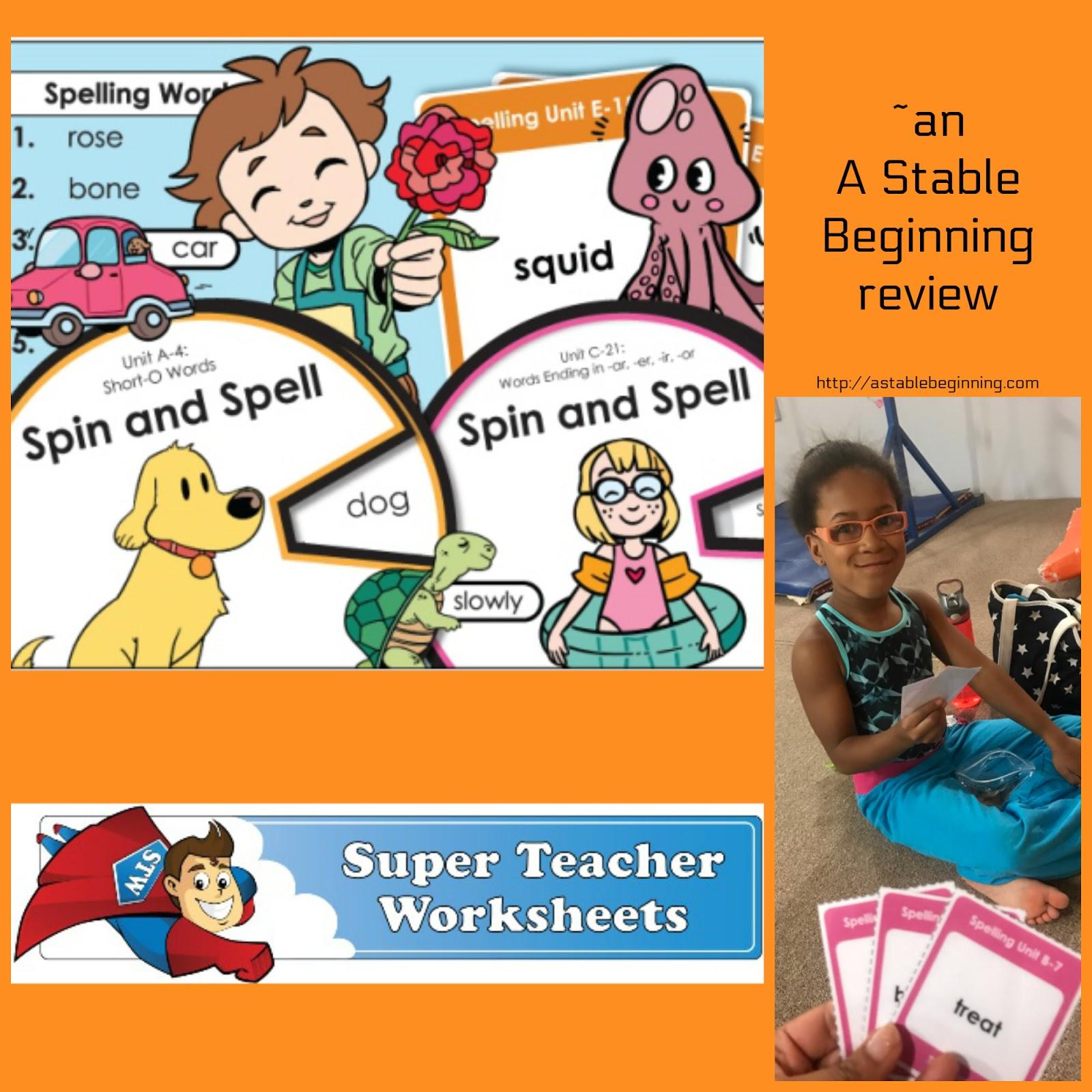 - A Stable Beginning: Super Teacher Worksheets: Worksheets Made Easy