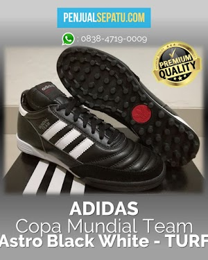 Futsal Adidas Copa Mundial Team Astro Black White - TURF