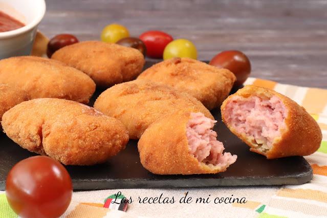 Nugetts de pollo con queso de cabra