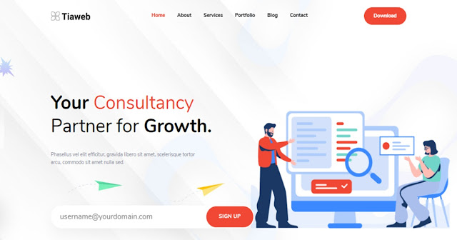 Template Landing Page Consult